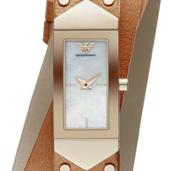 Emporio Armani Ladies Watch Ar7356 Mother of pearl